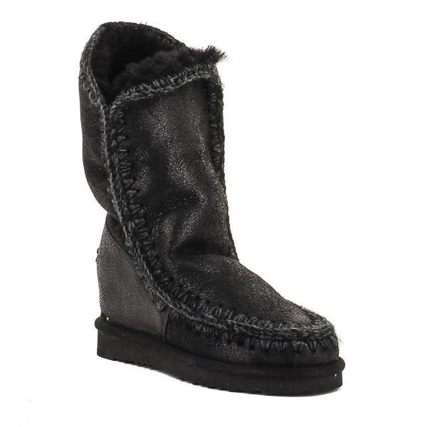 botas mou eskimo tall negras