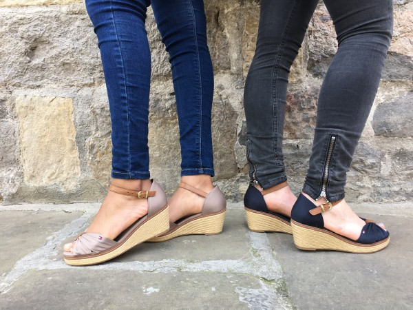 sandalias cuña tommy hilfiger outlet