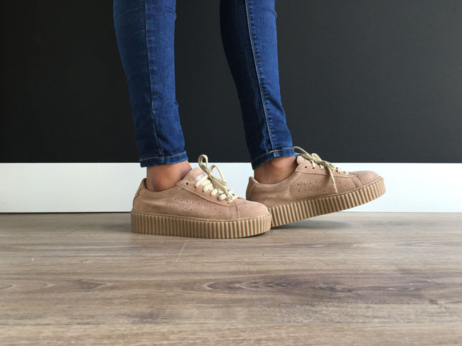 zapatillas creepers marrones